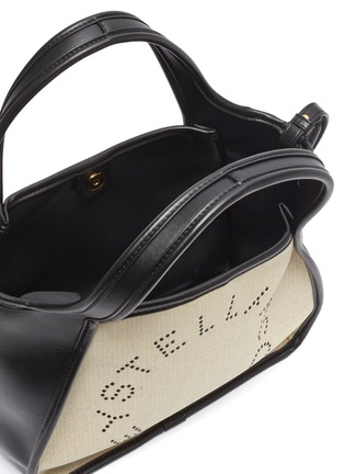- STELLA MCCARTNEY - Logo embroidered canvas tote bag