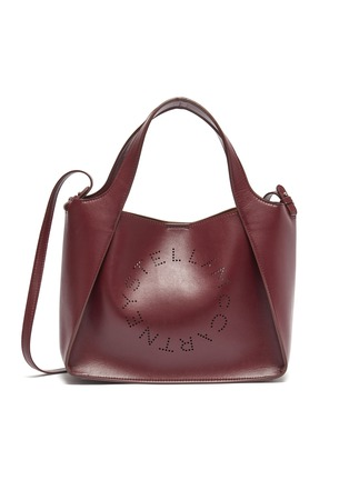 Main View - Click To Enlarge - STELLA MCCARTNEY - Logo embroidered canvas tote bag