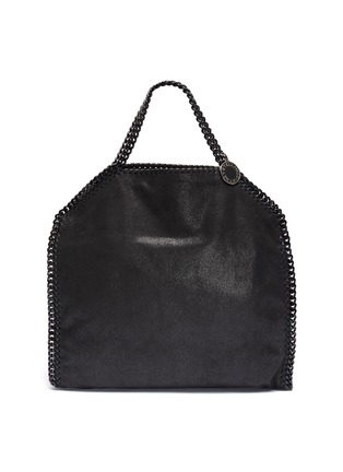 Main View - Click To Enlarge - STELLA MCCARTNEY - 'Falabella' faux shaggy deer chain edge tote bag