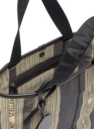 Detail View - Click To Enlarge - STELLA MCCARTNEY - Logo stripe patchwork tote bag