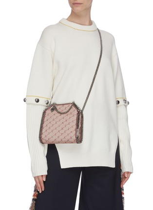 Figure View - Click To Enlarge - STELLA MCCARTNEY - 'Falabella' perforated logo mini chain tote