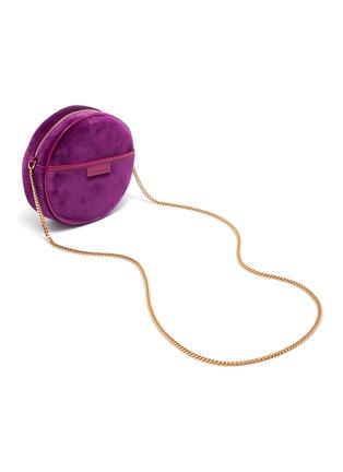 Detail View - Click To Enlarge - STELLA MCCARTNEY - Monogram strass embellished velvet round crossbody bag