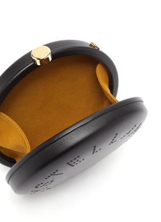 Detail View - Click To Enlarge - STELLA MCCARTNEY - Logo strap mini round crossbody bag