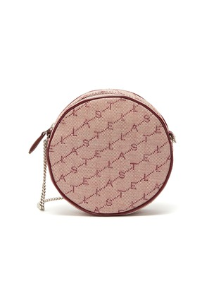 Main View - Click To Enlarge - STELLA MCCARTNEY - Monogram embroidered mini round canvas crossbody bag