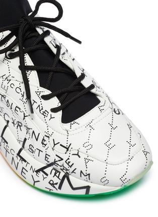 Detail View - Click To Enlarge - STELLA MCCARTNEY - 'Eclypse' monogram print platform sneakers