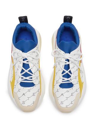 Detail View - Click To Enlarge - STELLA MCCARTNEY - 'Eclypse' monogram print colourblock platform sneakers
