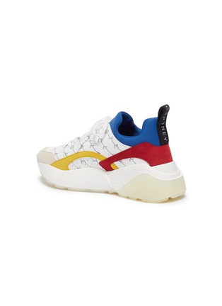 - STELLA MCCARTNEY - 'Eclypse' monogram print colourblock platform sneakers