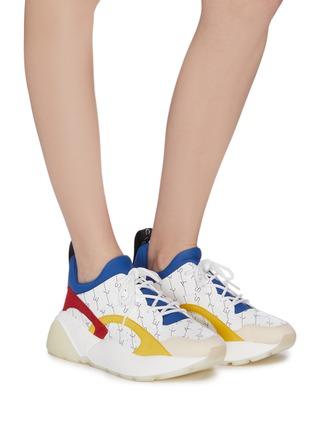 Figure View - Click To Enlarge - STELLA MCCARTNEY - 'Eclypse' monogram print colourblock platform sneakers