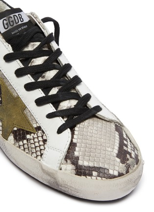 Detail View - Click To Enlarge - GOLDEN GOOSE - 'Superstar' snake embossed leather sneakers