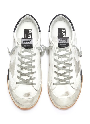 Detail View - Click To Enlarge - GOLDEN GOOSE - 'Superstar' layered outsole leather sneakers