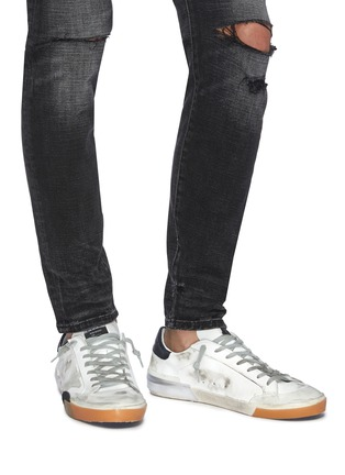Figure View - Click To Enlarge - GOLDEN GOOSE - 'Superstar' layered outsole leather sneakers