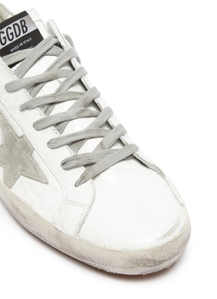 Detail View - Click To Enlarge - GOLDEN GOOSE - 'Superstar' crinkled effect leather sneakers