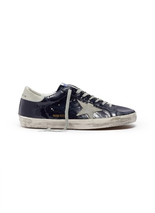 Main View - Click To Enlarge - GOLDEN GOOSE - 'Superstar' crinkled effect leather sneakers