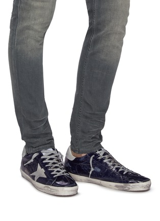 Figure View - Click To Enlarge - GOLDEN GOOSE - 'Superstar' crinkled effect leather sneakers