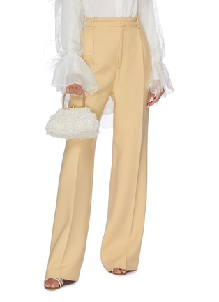 Figure View - Click To Enlarge - CULT GAIA - 'Estelle Mini' faux shearling lady bag