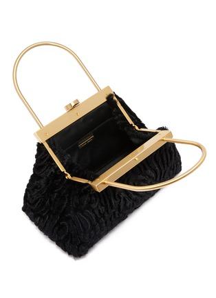 Detail View - Click To Enlarge - CULT GAIA - 'Estelle Mini' faux shearling lady bag