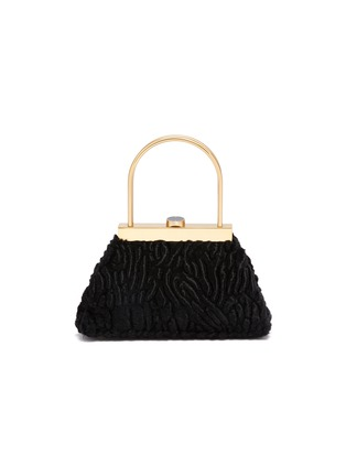 Main View - Click To Enlarge - CULT GAIA - 'Estelle Mini' faux shearling lady bag