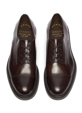 Detail View - Click To Enlarge - DOUCAL'S - 'Polo' leather Derbies