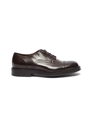 Main View - Click To Enlarge - DOUCAL'S - 'Polo' leather Derbies