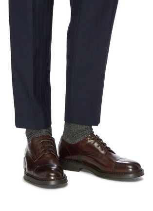 Figure View - Click To Enlarge - DOUCAL'S - 'Polo' leather Derbies