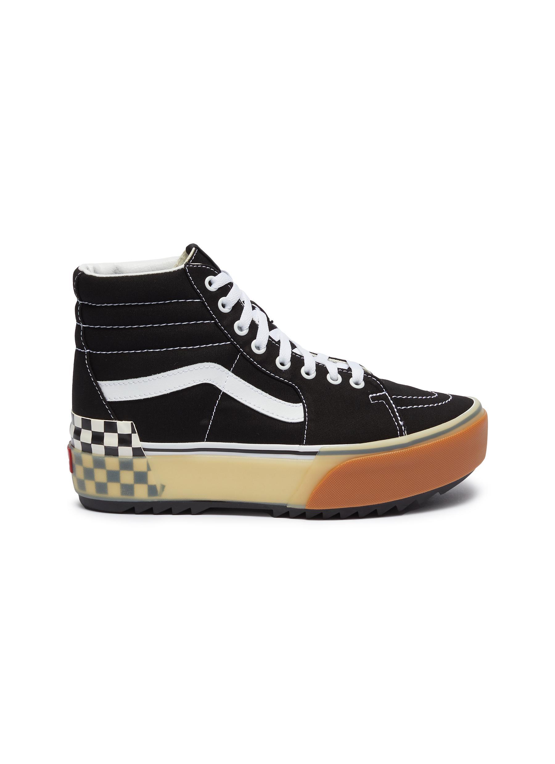 Sk8-Hi Stacked canvas flatform sneakers by Vans
