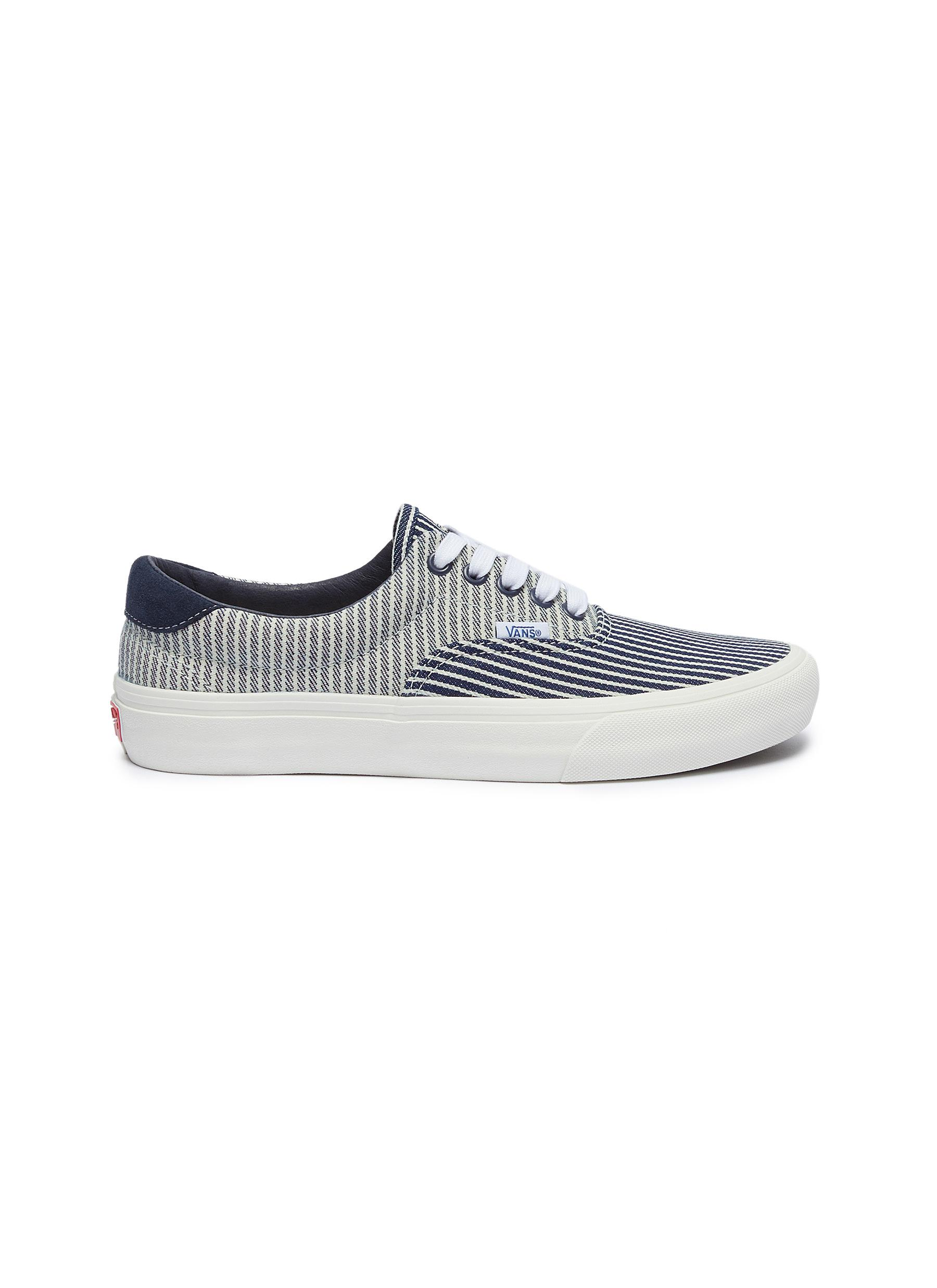 Era 59 stripe canvas skate sneakers by Vans