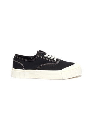 Main View - Click To Enlarge - GOOD NEWS - 'Bagger 2' contrast topstitching cotton sneakers