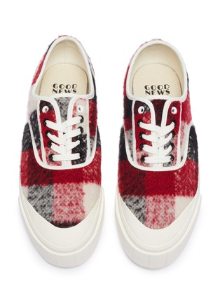 Detail View - Click To Enlarge - GOOD NEWS - 'Softball 2' checkered wool sneakers