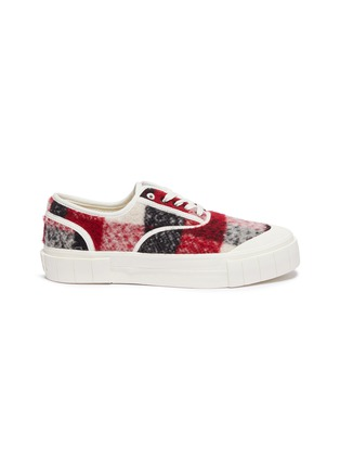 Main View - Click To Enlarge - GOOD NEWS - 'Softball 2' checkered wool sneakers