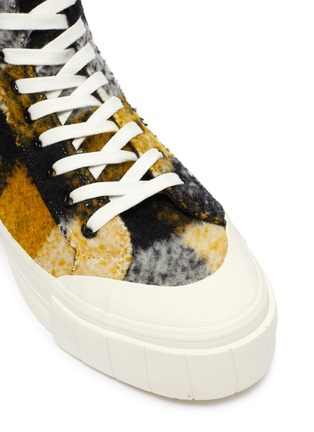 Detail View - Click To Enlarge - GOOD NEWS - 'Softball 2' checkered wool high top sneakers