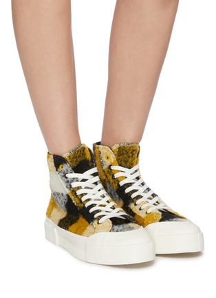 Figure View - Click To Enlarge - GOOD NEWS - 'Softball 2' checkered wool high top sneakers