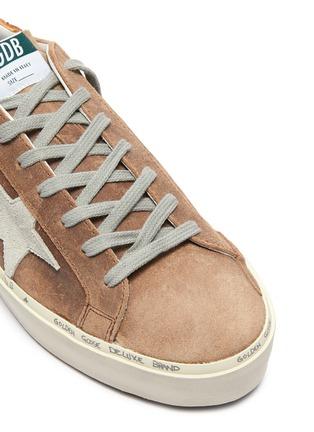 Detail View - Click To Enlarge - GOLDEN GOOSE - 'Hi Star' snake embossed collar suede flatform sneakers