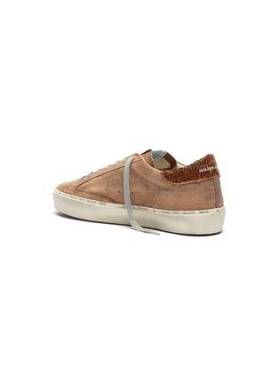 - GOLDEN GOOSE - 'Hi Star' snake embossed collar suede flatform sneakers