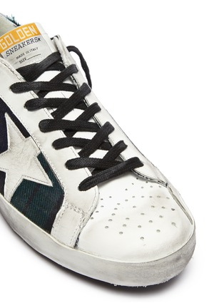 Detail View - Click To Enlarge - GOLDEN GOOSE - 'Superstar' check plaid sneakers