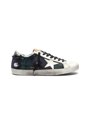 Main View - Click To Enlarge - GOLDEN GOOSE - 'Superstar' check plaid sneakers