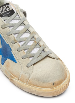Detail View - Click To Enlarge - GOLDEN GOOSE - 'Superstar' paint stroke leather sneakers