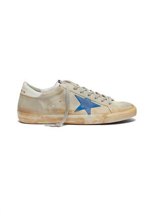 Main View - Click To Enlarge - GOLDEN GOOSE - 'Superstar' paint stroke leather sneakers