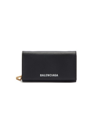 Main View - Click To Enlarge - BALENCIAGA - 'Ville' leather chain phone wallet