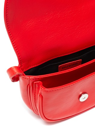 Detail View - Click To Enlarge - BALENCIAGA - 'Soft Round XS' leather crossbody bag