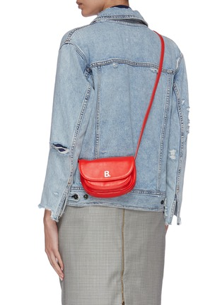 Figure View - Click To Enlarge - BALENCIAGA - 'Soft Round XS' leather crossbody bag