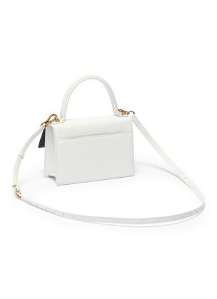 Detail View - Click To Enlarge - BALENCIAGA - 'Sharp XS' lizard embossed leather shoulder bag