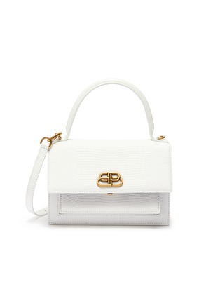 Main View - Click To Enlarge - BALENCIAGA - 'Sharp XS' lizard embossed leather shoulder bag