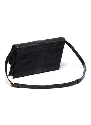 Detail View - Click To Enlarge - BALENCIAGA - 'Shift' leather trim monogram jacquard crossbody bag