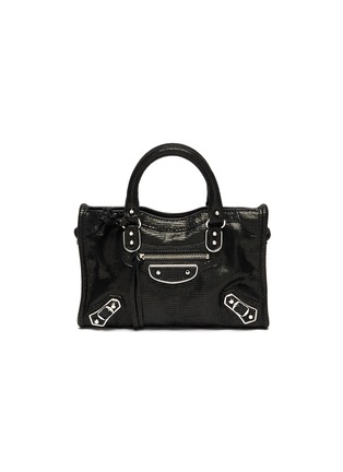 Main View - Click To Enlarge - BALENCIAGA - 'Classic City' nano lizard embossed leather shoulder bag