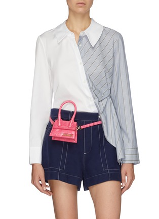 Figure View - Click To Enlarge - JACQUEMUS - 'Le Chiquito' micro croc embossed leather top handle bag