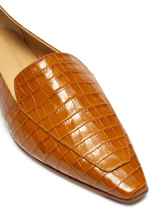 Detail View - Click To Enlarge - AEYDE - 'Aurora' croc embossed leather loafers