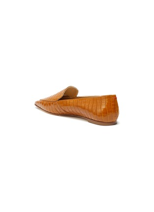 - AEYDE - 'Aurora' croc embossed leather loafers
