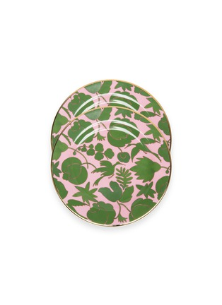 Main View - Click To Enlarge - LA DOUBLEJ - x Ancap dessert plate set – Wildbird Rosa/Verde