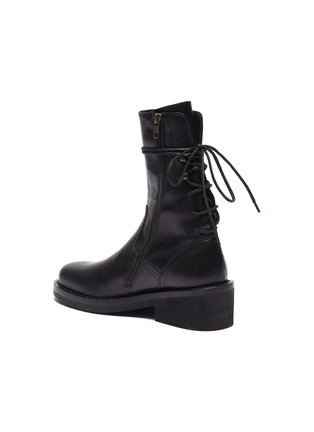 09a99922 Lace-up back panelled leather ankle boots