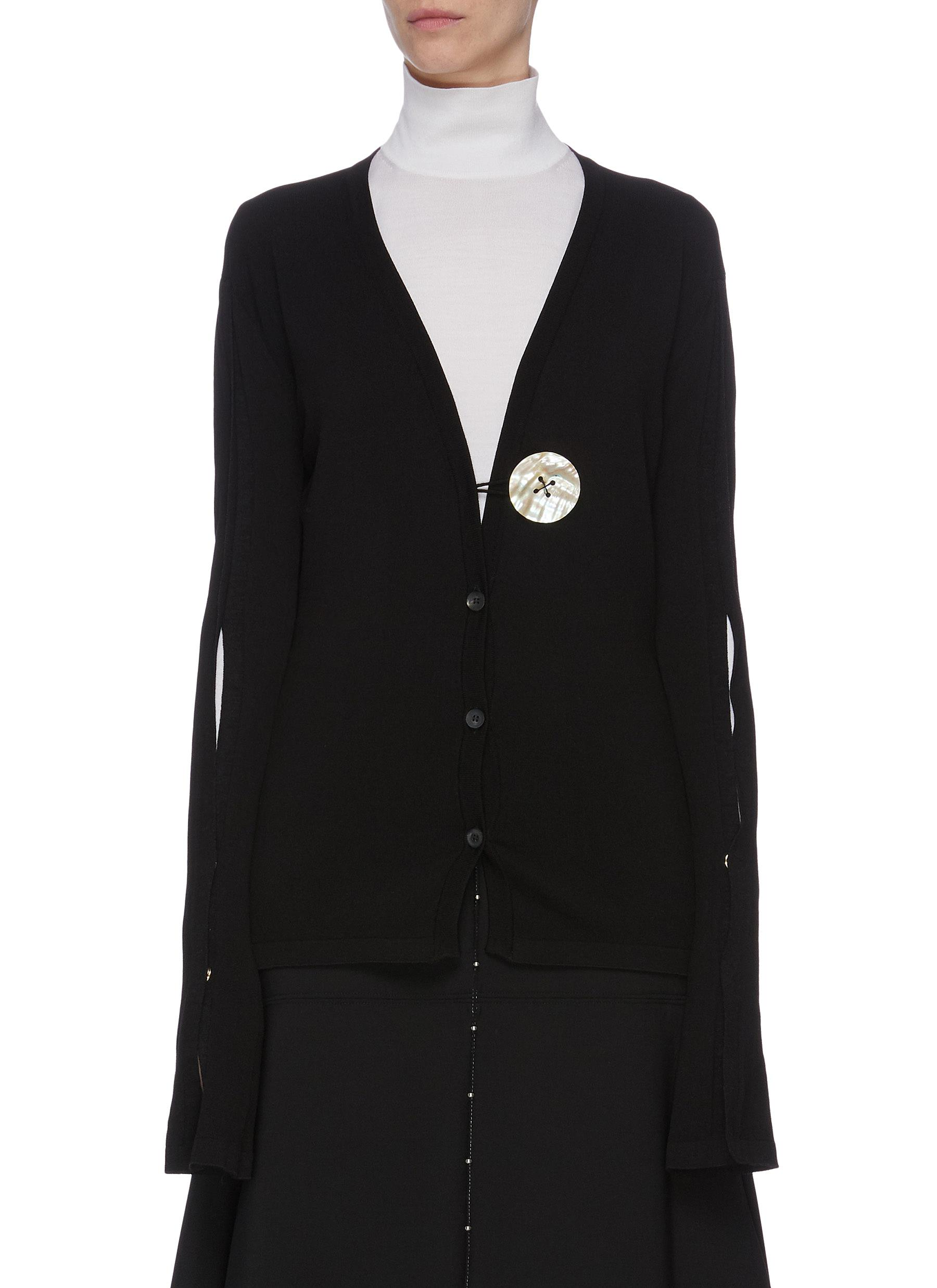 Slit sleeve cardigan by Ellery